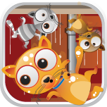 Crazy Cat! - The Fun In Lost Cats Falling From Space By Mokool Inc Icon