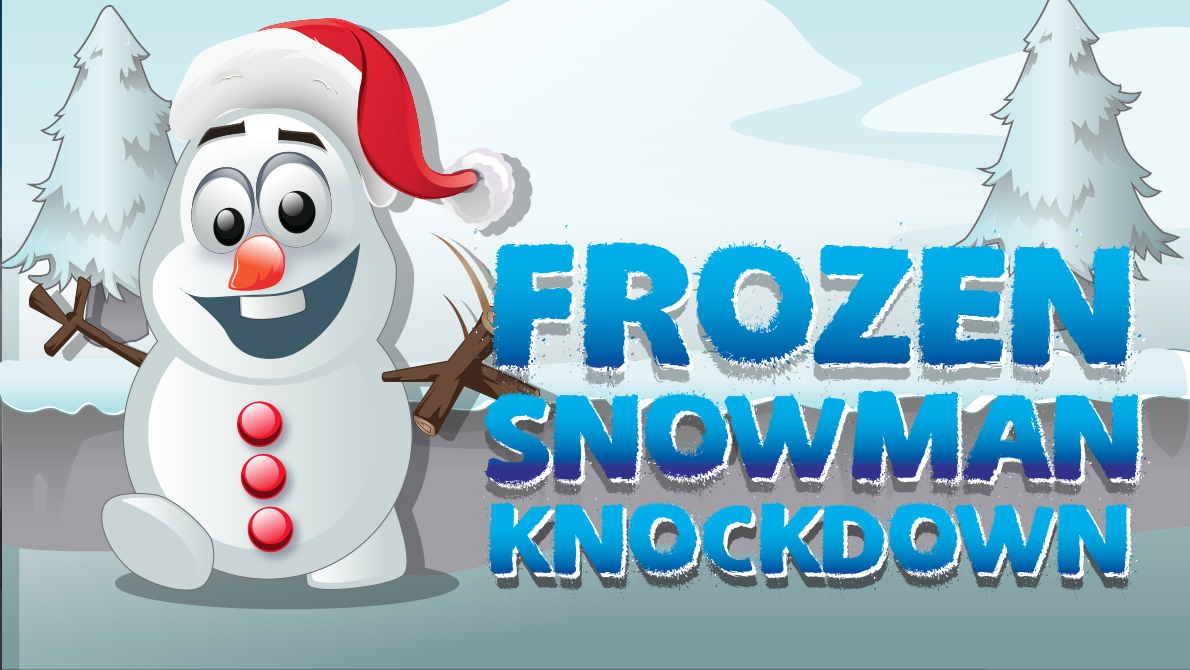 Frozen Snowman Knockdown Feature