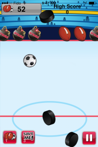 Flick That Ball  Game Screen