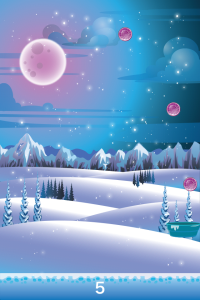 Frozen Snow Fall on iPhone/iPad/iPod Touch