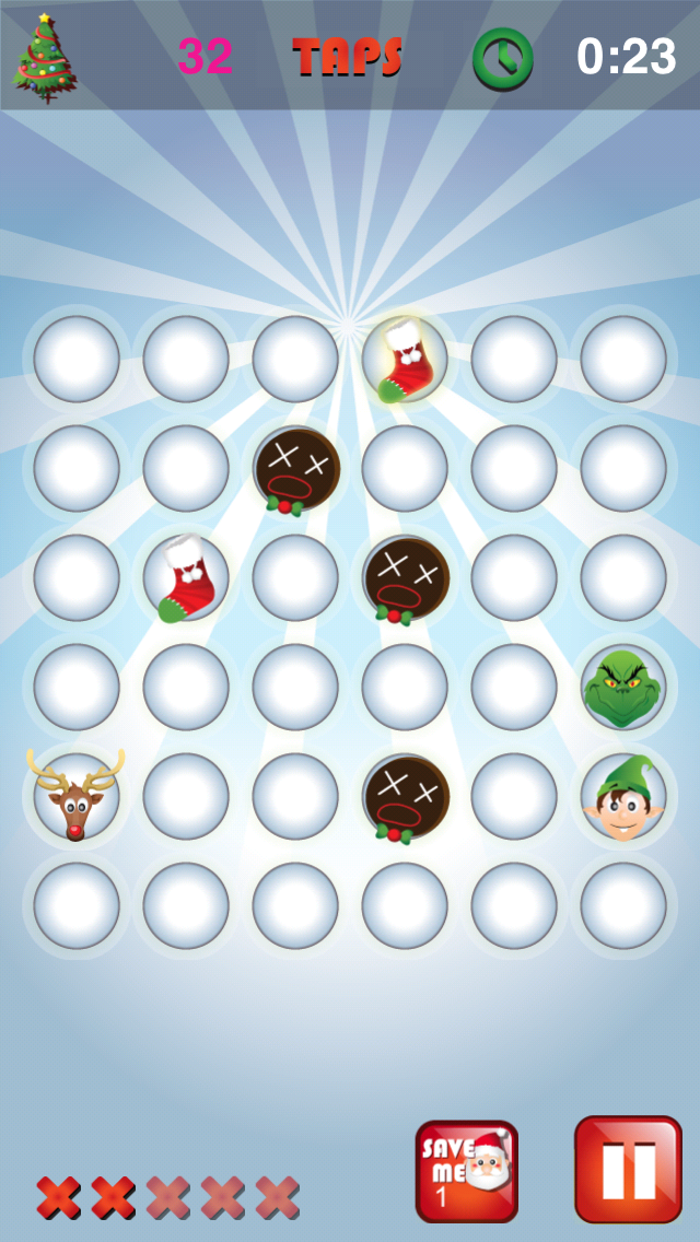 12 Taps of Christmas Game Screen