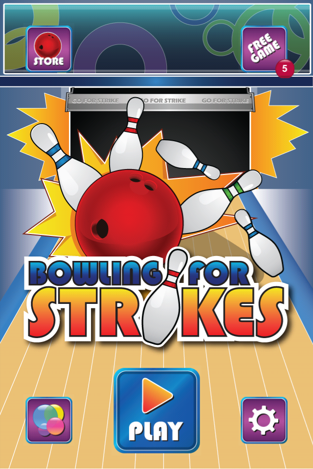 Bowling for Strikes Main Menu Screen