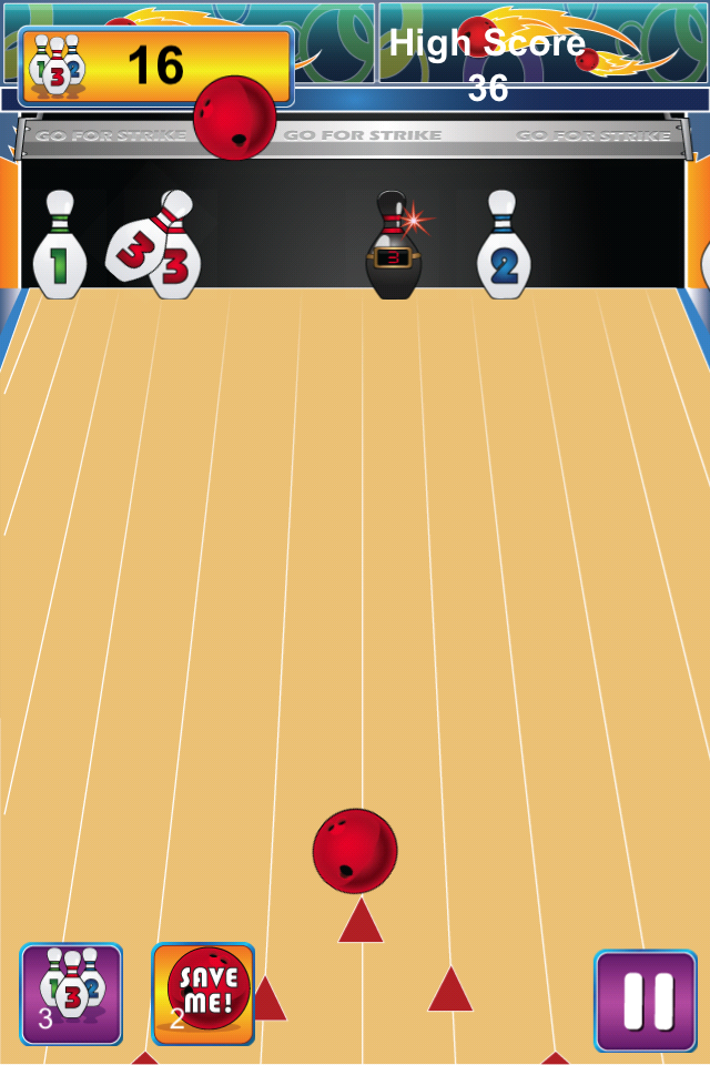 Bowling for Strikes Game Screen