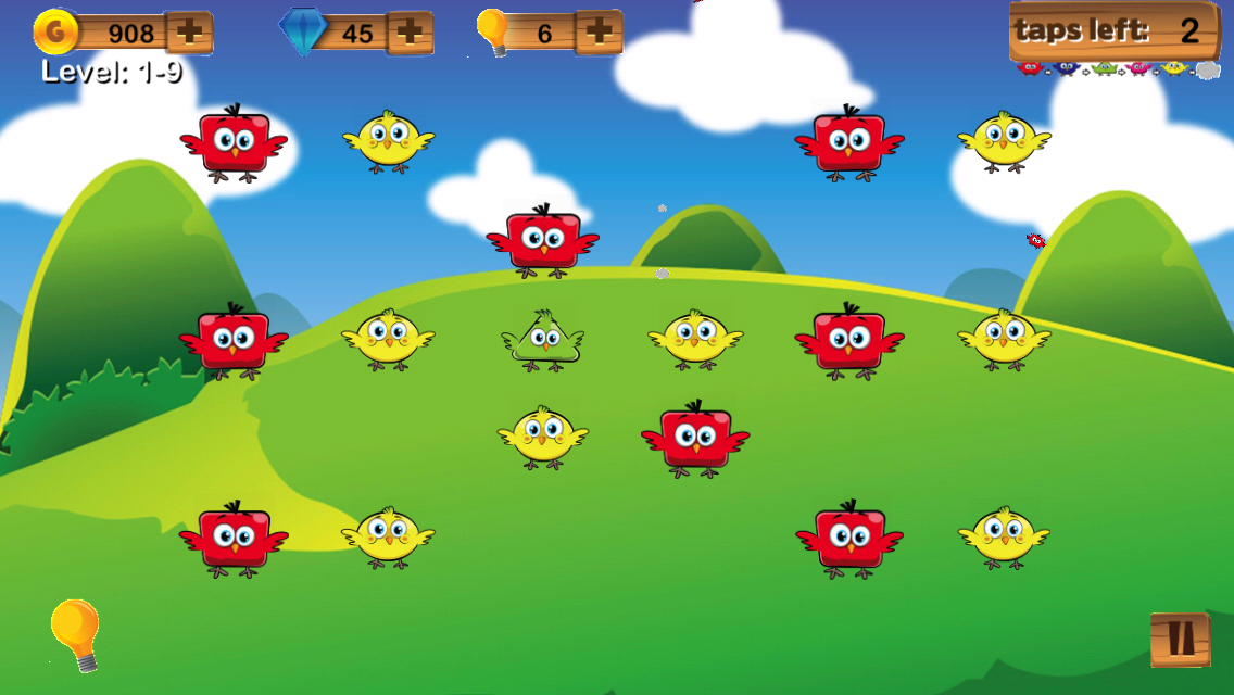 Chick-a-Dees Game Screen