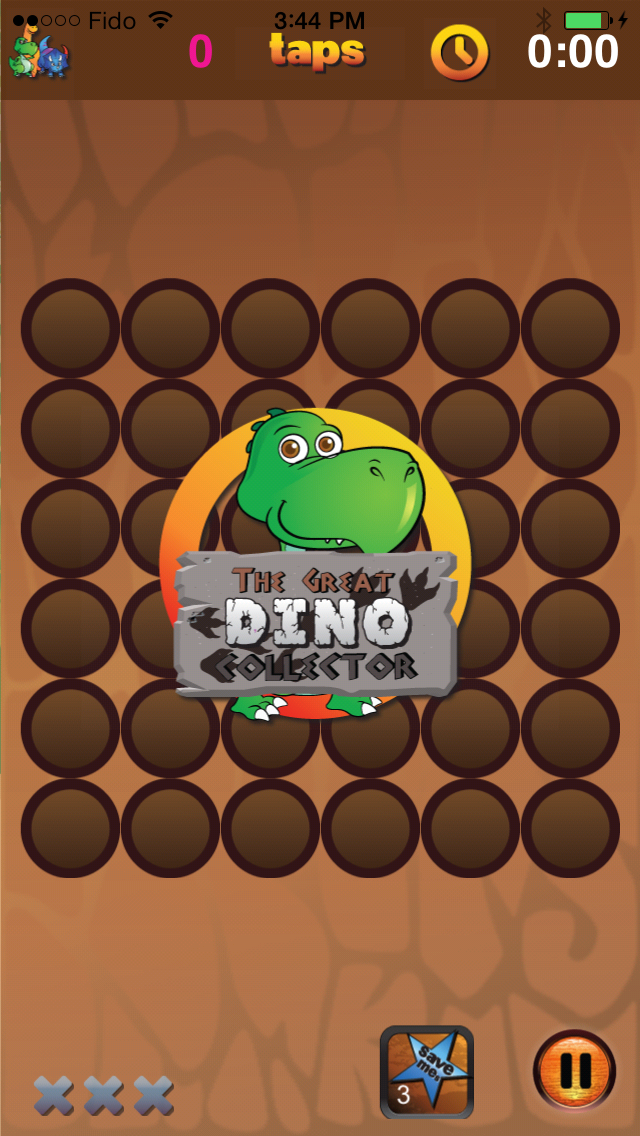 The Great Dino Collector Game Screen