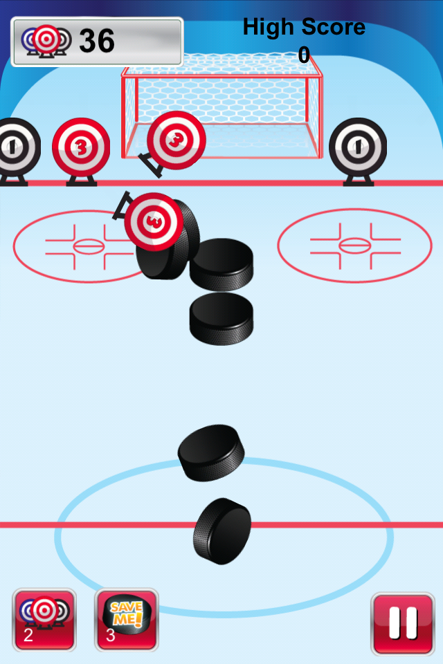 The Great Hockey Challenge Game Screen
