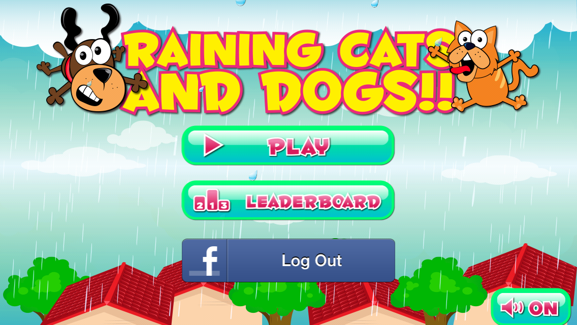 Raining Cats and Dogs Main Menu Screen